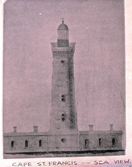 Humansdorp district, 1948. Sketch of Cape St Francis lighthouse.