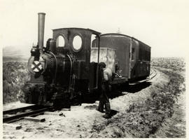 Port Elizabeth district. CGR  locomotive with medical train broken down on the Port Elizabeth - A...