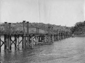 NGR Alfred County showing pier / piles (?)