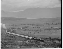 Eastern Cape, 6 March 1947. Leading Class 15AR No 1825 and No 1805 pull the Royal Train on Boesma...