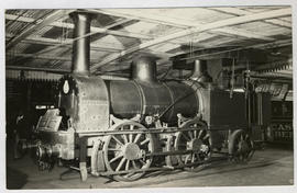 Cape Town, 1949. First locomotive at railway docks on 4 foot 8 inch gauge. Blackie