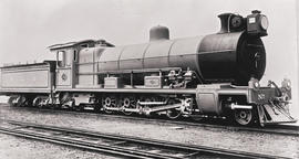 NGR 'Hendrie D' No 334 built by North British Loco Co in 1908 later SAR Class 3 No 1450.