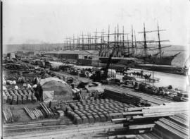 Durban, 17 April 1902. Quayside at Durban Harbour during Anglo-Boer War.