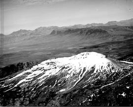 De Doorns, 1935. Aerial view of snow-covered Hex River mountains.
