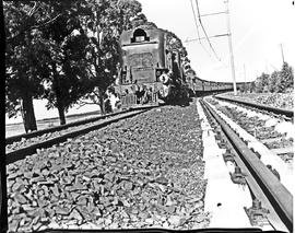 Vryheid district, 1967. SAR Class GMAM with passenger train.