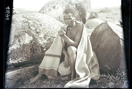 Transkei, 1932. Bomvaan man smoking pipe.
