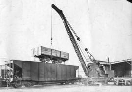 CSAR type A1 No 24991 ex NZASM open goods wagon later SAR type E-13 on top of CSAR type J2 Hopper...