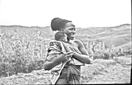 Vryheid district, 1947. Zulu women near Babanango.