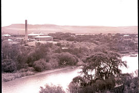 Bloemfontein district. Power station nest to the Modder River at Maselspoort.