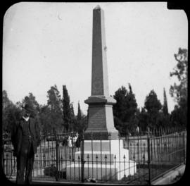 Bloemfontein. Monument to the fallen of the Second Battalion of the Norfolk Regiment in the old c...