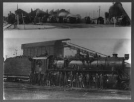 Germiston, circa 1920. Locomotive depot staff at SAR Class 16D.