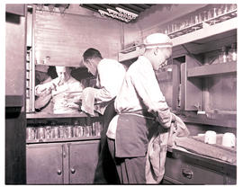 """1946. Blue Train kitchen."""