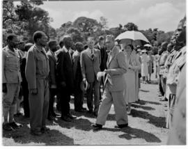 Eshowe, 19 March 1947. Royal family greeting ex-servicemen.