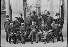 Cape Town, 1895. Railway conference with senior railway officials.