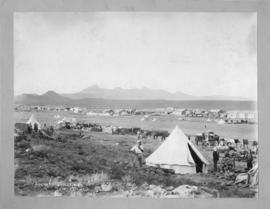 Rosmead, January 1902. Station buildings, tents and animal-drawn wagons. (McKenzie & Brown, M...