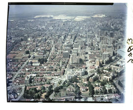 Johannesburg. Aerial view of city centre.
