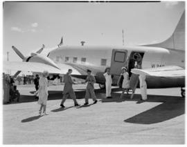 Salisbury, Southern Rhodesia, 7 April 1947. Arrival of Royal party at aerodrome.