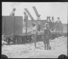 SAR type 8-E-2 narrow gauge wagons being loaded.