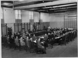 Johannesburg, 19 and 20 November 1947. Meeting of senior SAR officers at headquarters. (Donated M...