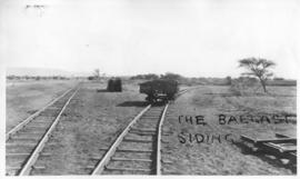 Naboomspruit district, circa 1924. Ballast siding. (Album on Naboomspruit - Singlewood construction)