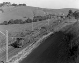 Pietermaritzburg district, 1964. Goods train with two SAR Class 5E's.