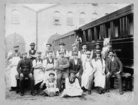 Cape Town, 1900. Staff of the Salt River trimming shop.