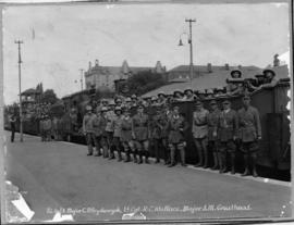 Johannesburg, 9 to 18 March 1922. Officers and troops on station platform.