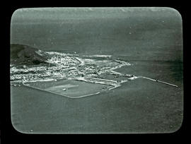 Cape Town. Aerial view of Table Bay harbour.