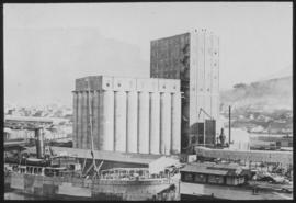 Cape Town. Table Bay harbour - grain elevator.