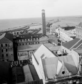 Port Elizabeth, 1932. Campanile with harbour in the distance.
