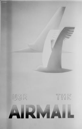 Publicity poster for air mail.