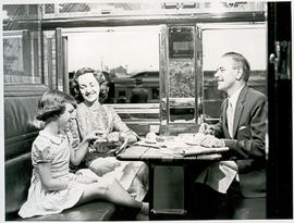"""1957. Blue Train compartment scene."""