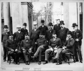 Cape Town, 1895. Railway Conference with General Manager Price, Hunter, Middelberg and Elliott.