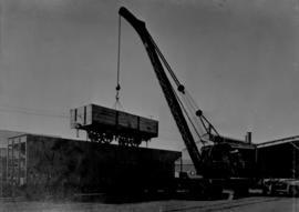 CSAR type A1 No 24991 ex NZASM open goods wagon on top of CSAR type J2 No 53897 hopper coal wagon...