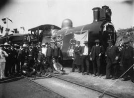 Ressano Garcia, Mozambique, July 1907. Group of Portuguese and CSAR Officials with CSAR Class 6L-...