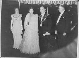 Cape Town, 21 April 1947. Princess Elizabeth arriving for birthday banquet.