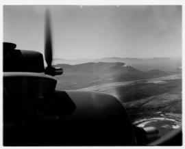 May 1946. Trip to Cape Town with SAA Douglas DC-4 ZS-AUA 'Tafelberg', view from aircraft over mou...