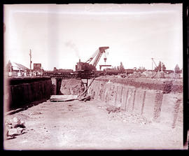 """Kimberley, 1932. Subway at Beaconsfield under construction."""