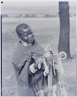 Pretoria, 1951. Woman selling beads.