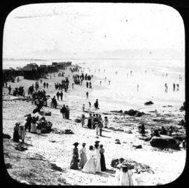 Cape Town. Bathing beach at Muizenberg.