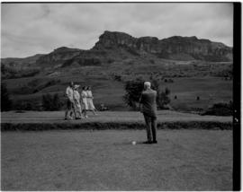 Royal Natal National Park, Drakensberg, 14 to 16 March 1947. Prime Minister JC Smuts photographin...