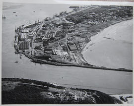 Durban, 1935. Aerial view of Point.