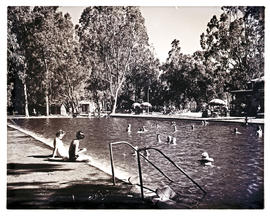 """Aliwal North, 1952. Hot springs swimming pool."""