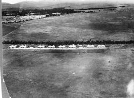 Pretoria, 1931. Aerial view of Zwartkops airport with Roberts Heights in the distant background.