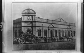 Pretoria. Main Post Office with Hey's passenger and mail coach.