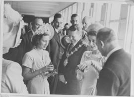Kimberley, 18 April 1947. Princess Elizabeth and Princess Margaret at De Beers.