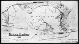 Durban, 1917. Plan of Durban harbour.