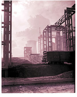 """Bloemfontein, 1954. Power station coal and ash handling."""