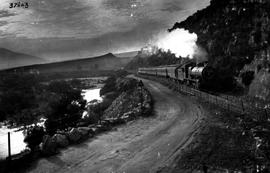 De Doorns, 1926. SAR Class 15A with passenger train in Hex River pass at Sandhills.