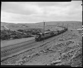 Vryheid district, 1975. Train on new coal line.